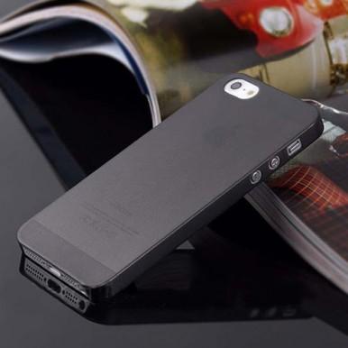 """Ультратонкий черный чехол """"0.2mm"""" для iPhone 5/5s/SE"""