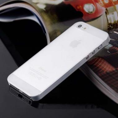 """Ультратонкий белый чехол """"0.2mm"""" для iPhone 5/5s/SE"""
