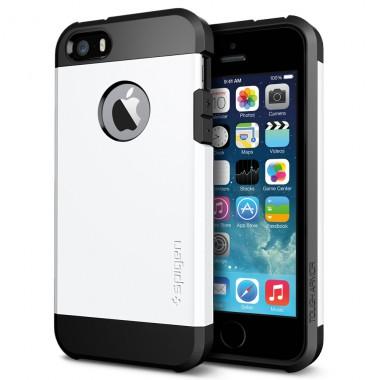 """Антиударный чехол """"Spigen"""" белый для iPhone 5/5s/SE"""
