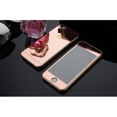 Комплект розово-золотых защитных стекол для iPhone 5/5s/SE