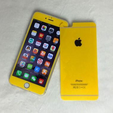 Комплект желтых защитных стекол для iPhone 6/6s