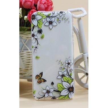 """Силиконовый чехол """"Yellow butterfly"""" для iPhone 5/5s/SE"""