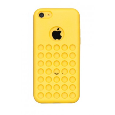 Желтый силиконовый чехол для iPhone 5C