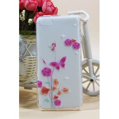 "Силиконовый чехол ""Peach butterfly"" для iPhone 5/5s/SE"