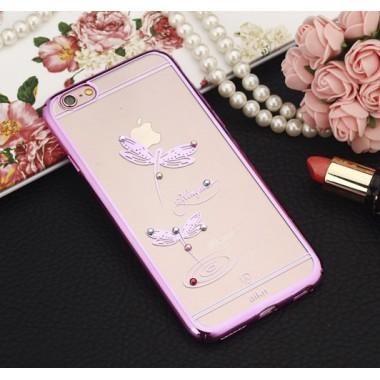 """Пластиковый чехол Aikn """"Стрекоза"""" розовый для iPhone 6/6s"""