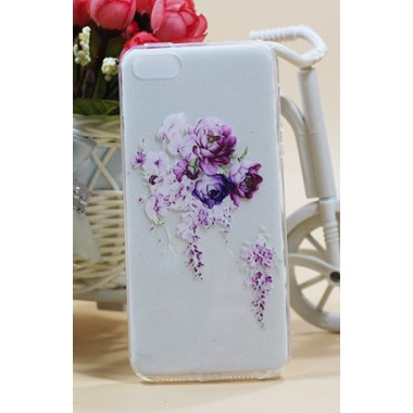 """Силиконовый чехол """"Tea rose"""" для iPhone 5/5s/SE"""