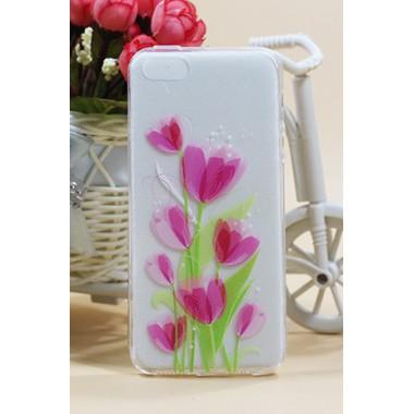 """Силиконовый чехол """"Tulip"""" для iPhone 5/5s/SE"""