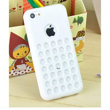 Белый силиконовый чехол для iPhone 5C