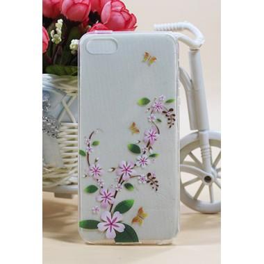 """Силиконовый чехол """"Flowering branch"""" для iPhone 5/5s/SE"""