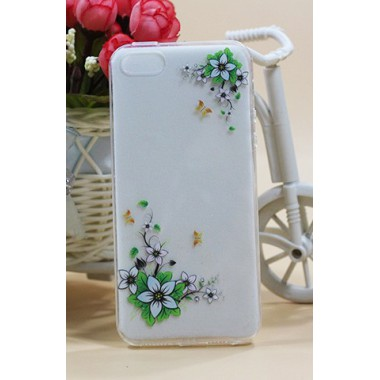 """Силиконовый чехол """"White flower"""" для iPhone 5/5s/SE"""