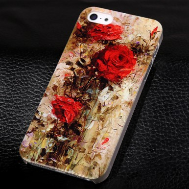 """Пластиковый чехол """"Розы"""" для iPhone 5/5s/SE"""