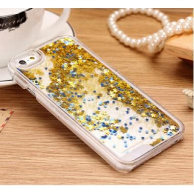 Переливающийся золотой пластиковый чехол для iPhone 4/4s