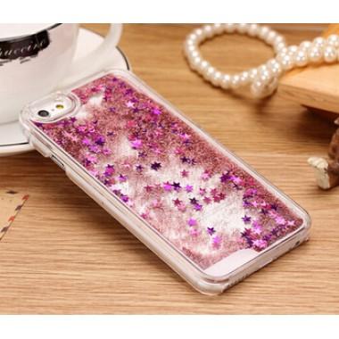 Переливающийся розовый пластиковый чехол для iPhone 4/4s