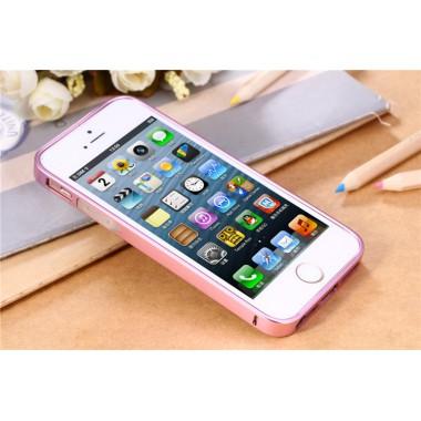 Металлический розовый бампер для iPhone 5/5s/SE