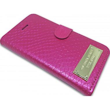 "Чехол-книжка ""Michael Kors"" розовая для iPhone 5/5s/SE"
