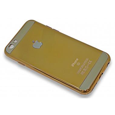 Силиконовый золотой чехол Sparkle Glossy для iPhone 6+/6s+
