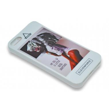 """Силиконовый белый """"Elevenparis"""" для IPhone 5"""