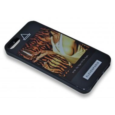 """Силиконовый черный чехол """"Elevenparis"""" для iPhone 5/5s/SE"""