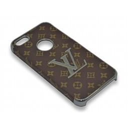 """Пластиковый чехол """"Louis Vuitton"""" серебряный для iPhone 5/5s/SE"""