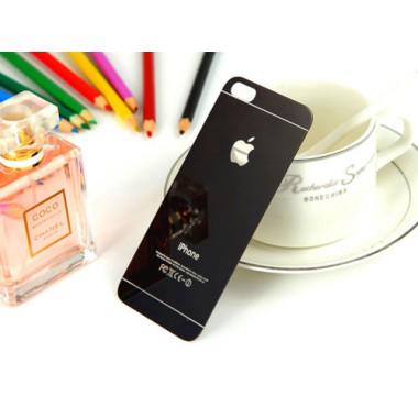 Заднее черное защитное стекло для iPhone 5/5s/SE