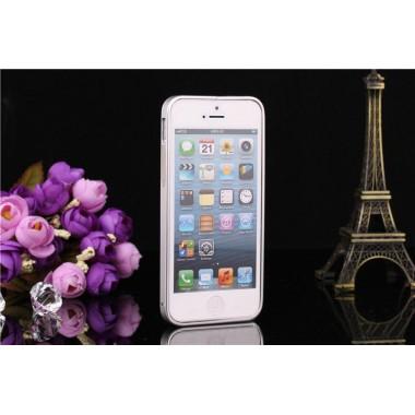 Металлический серебряный бампер для iPhone 5/5s/SE