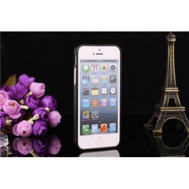 Металлический черный бампер для iPhone 5/5s/SE
