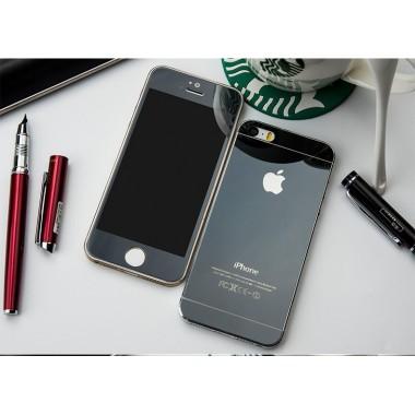 Комплект черных защитных стекол для iPhone 5/5s/SE
