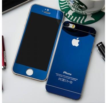 Комплект синих защитных стекол для iPhone 5/5s/SE