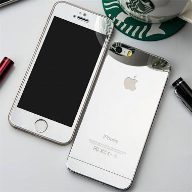 Комплект серебряных защитных стекол для iPhone 5/5s/SE