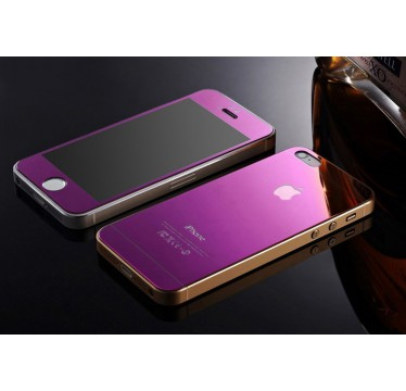 Комплект фиолетовых защитных стекол для iPhone 5/5s/SE