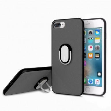 Чехол Rock Ring Holder Case M1 с подставкой для iPhone 7 и 8 черный