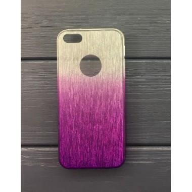 Силиконовый чехол Aspor Rainbow Collection фиолетовый для iPhone 5/5s/SE
