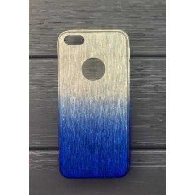 Силиконовый чехол Aspor Rainbow Collection синий для iPhone 5/5s/SE