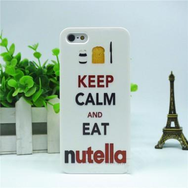 """Пластиковый чехол """"Nutella"""" для iPhone 5/5s/SE"""
