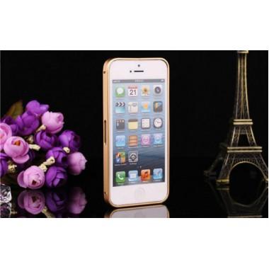 Металлический золотой бампер для iPhone 5/5s/SE