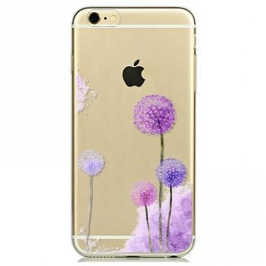 """Силиконовый чехол """"Одуванчики"""" для iPhone 5/5s/SE"""