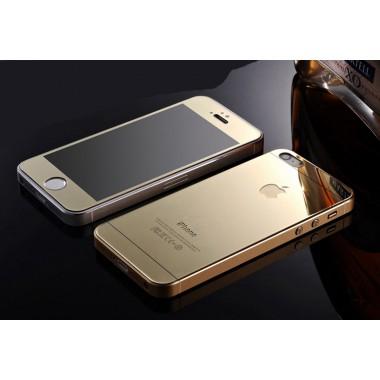 Комплект золотых защитных стекол для iPhone 5/5s/SE
