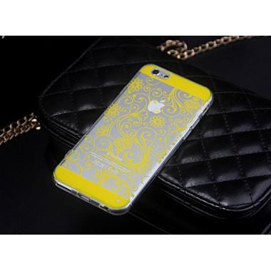 """Силиконовый чехол """"Узор"""" желтый для iPhone 5/5s/SE"""