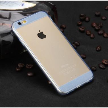Силиконовый прозрачно-синий чехол для iPhone 6/6s