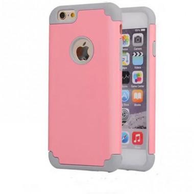 """Антиударный чехол """"soft touch"""" розово-серый для iPhone 6/6s"""