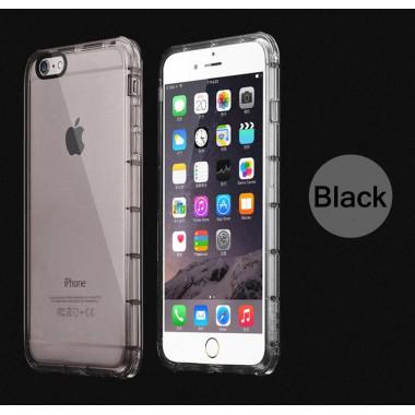 Антиударный черный силиконовый чехол для iPhone 6/6s