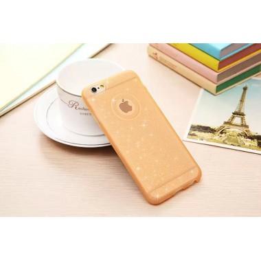 Силиконовый золотой чехол для iPhone 6+/6s+