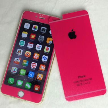 Заднее красное защитное стекло для iPhone 5/5s/SE