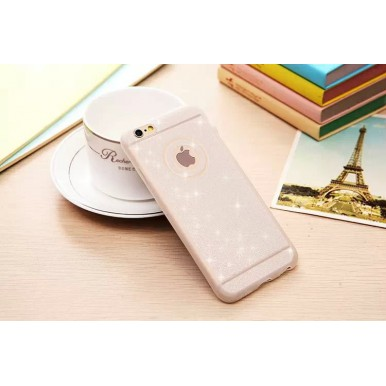 Силиконовый серебряный чехол для iPhone 5/5s/SE