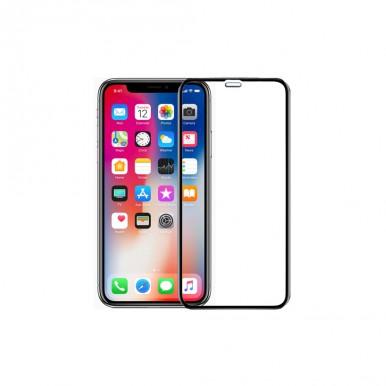 Защитное черное 6D стекло для iPhone X
