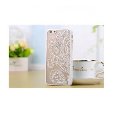 Пластиковый чехол Узор белый для iPhone 6+/6s+