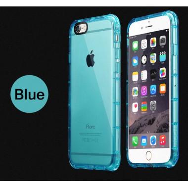 Антиударный бирюзовый силиконовый чехол для iPhone 6/6s