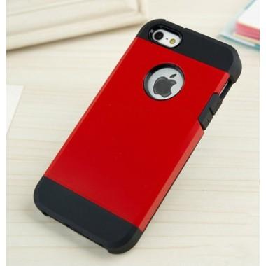 """Антиударный чехол """"Spigen"""" красный для iPhone 5/5s/SE"""