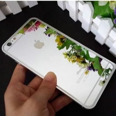 Заднее серебряное защитное стекло для iPhone 7 Plus