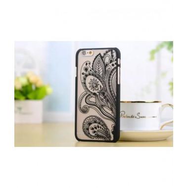 Пластиковый чехол Узор черный для iPhone 6+/6s+